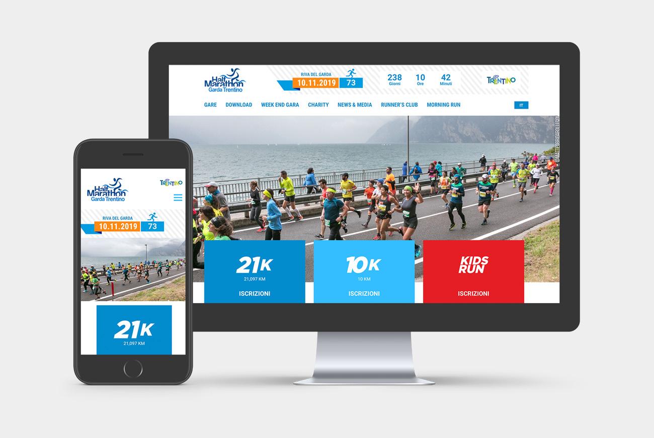 Realizzazione sito internet Garda Trentino Half Marathon