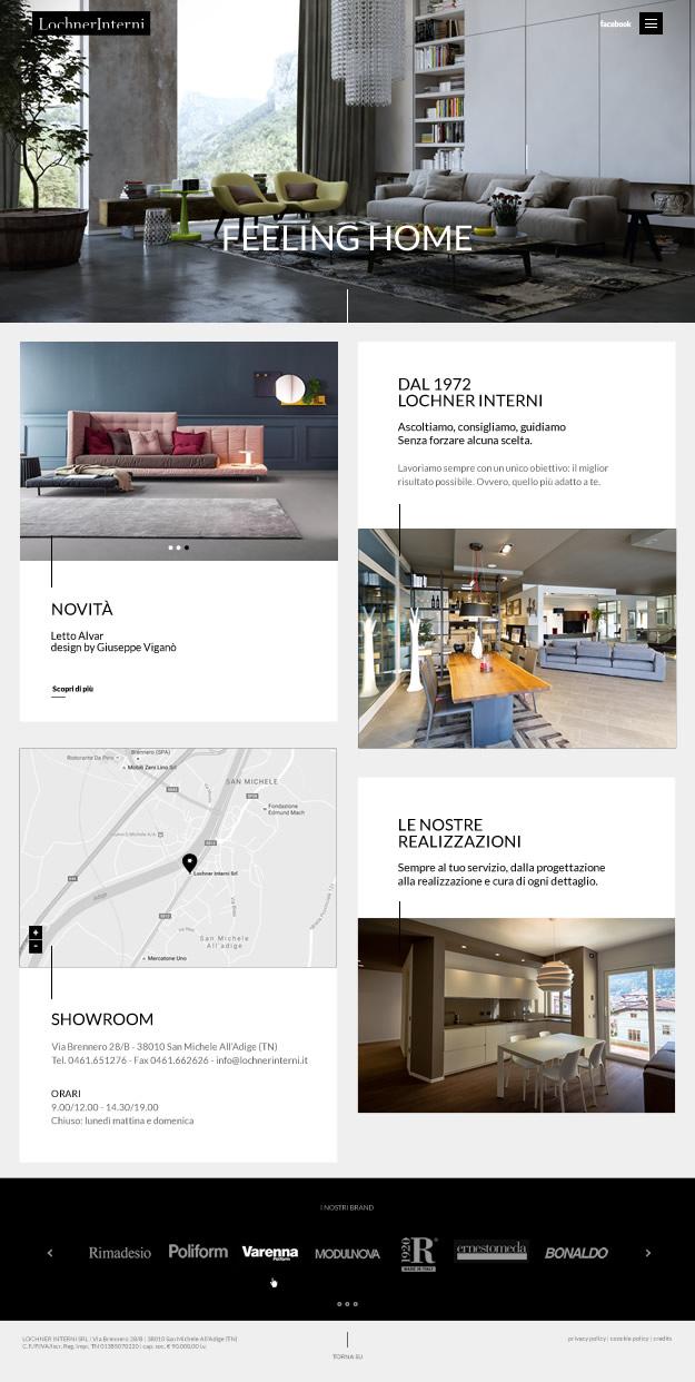 Web Design homepage sito Lochner Interni