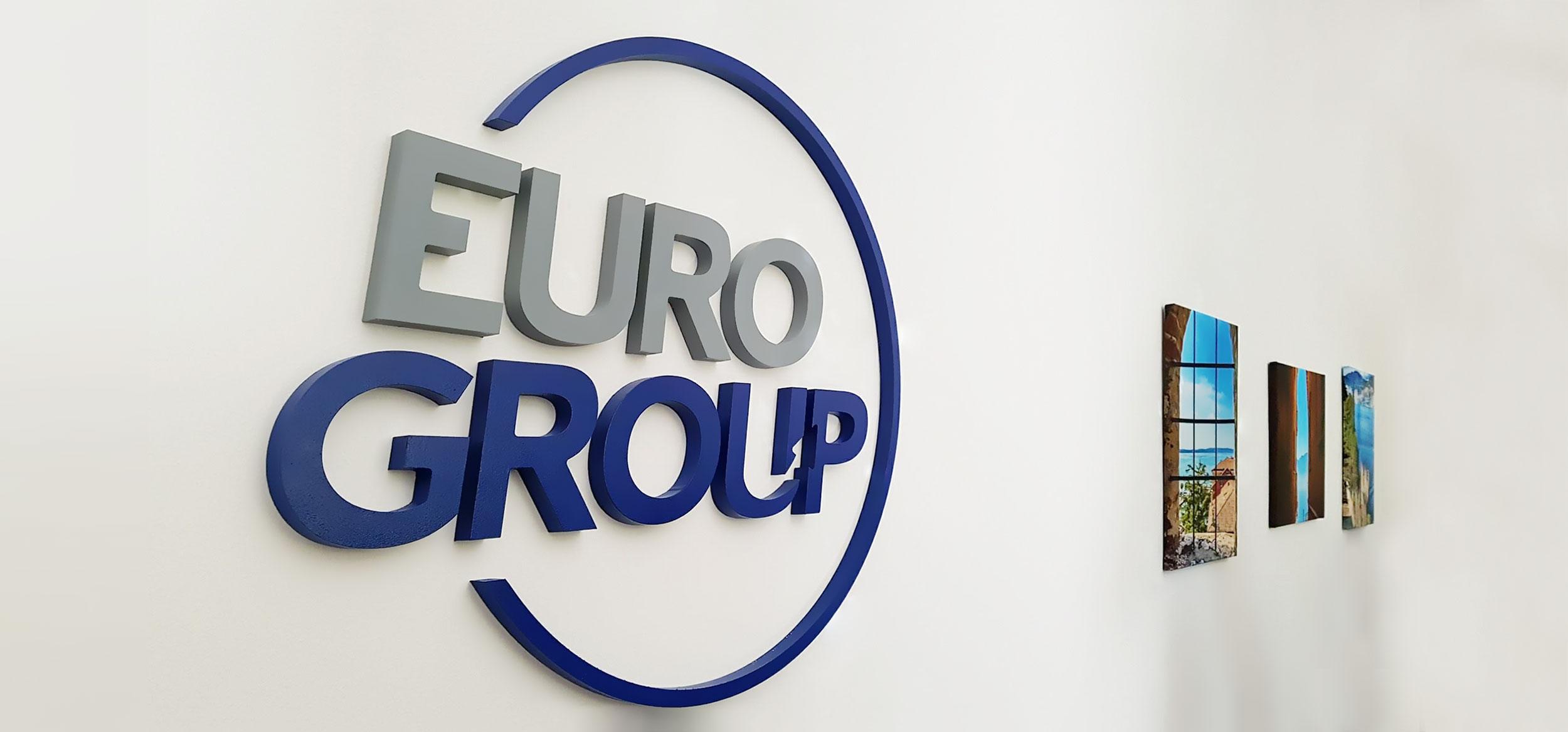 Realizzazione segnaletica interna sede Euro Group