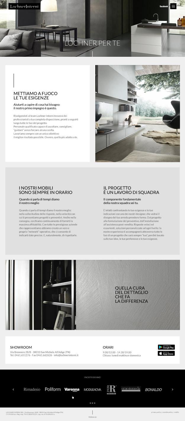 Web Design sito Lochner Interni