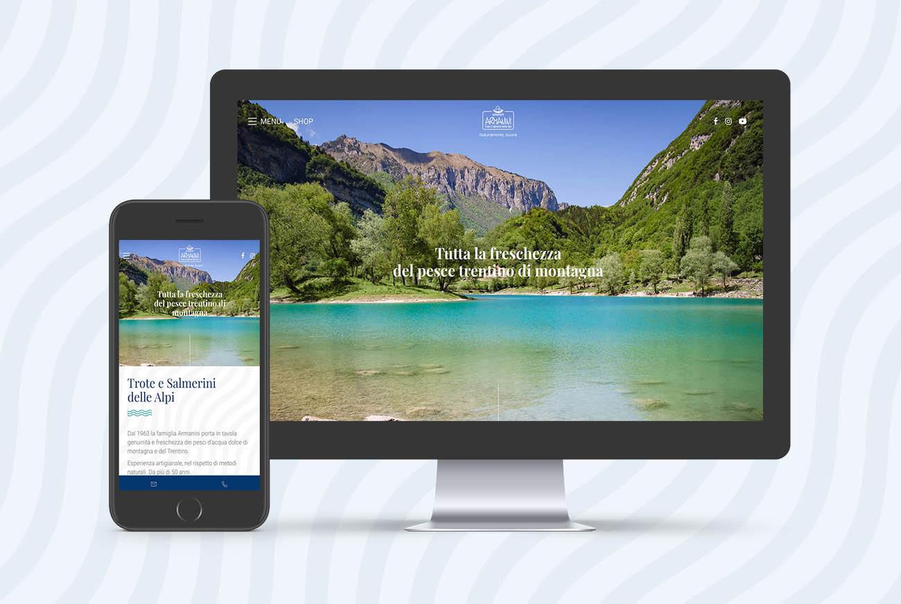 Realizzazione sito internet Troticoltura Armanini