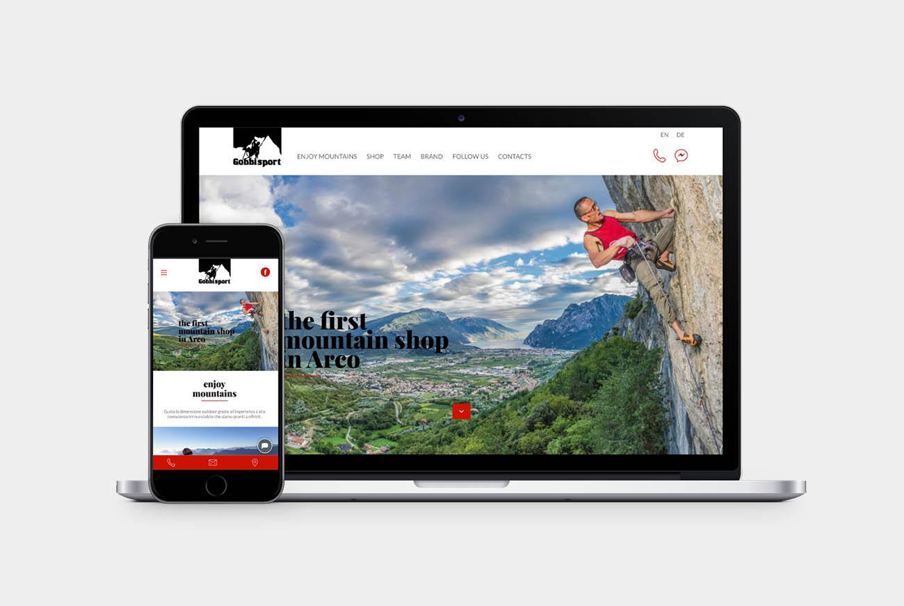 Realizzazione sito internet Gobbisport Arco