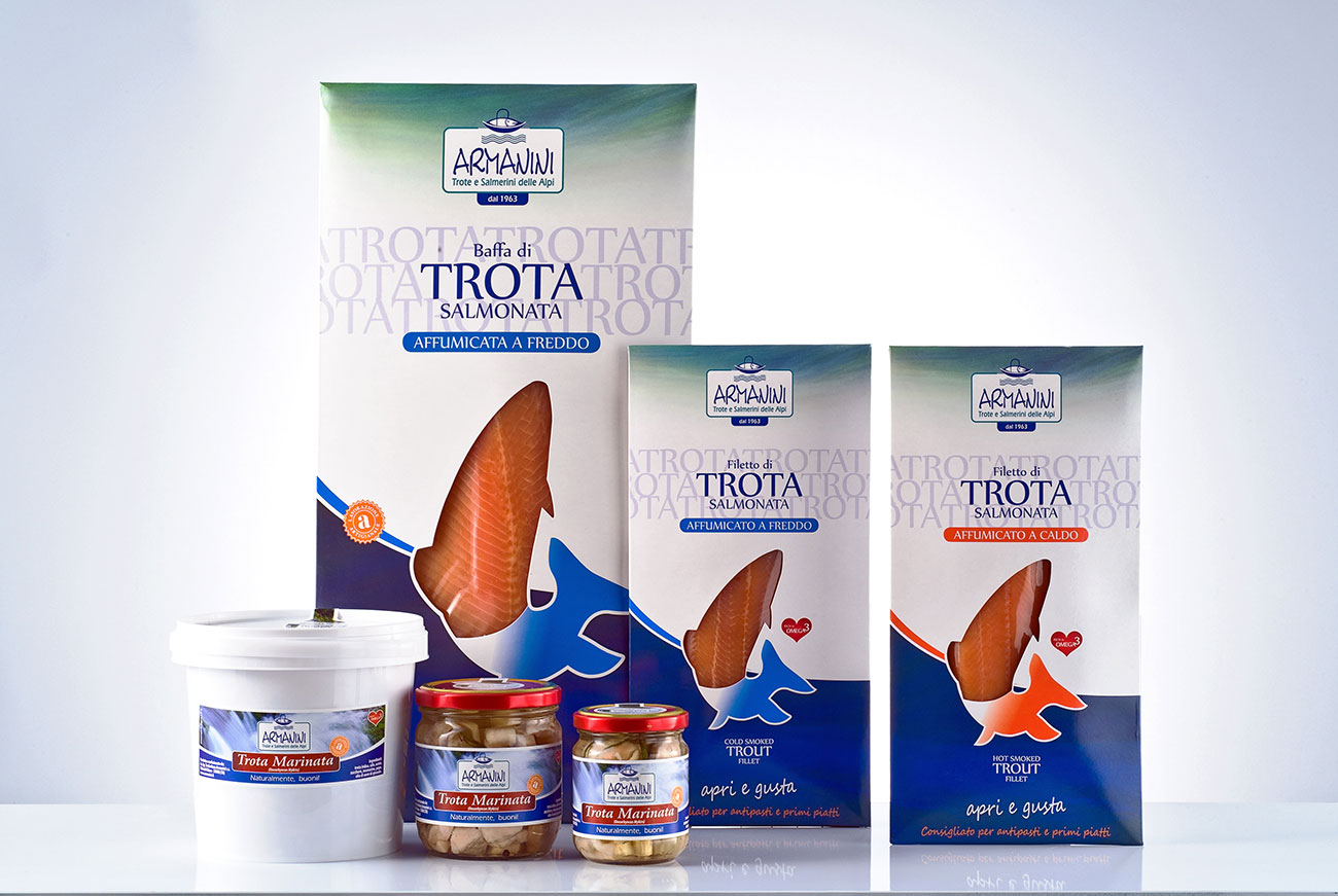 Packaging prodotti Troticoltura Armanini