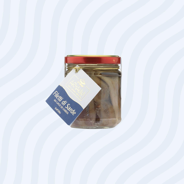 Pendagli prodotti sott'olio Troticoltura Armanini