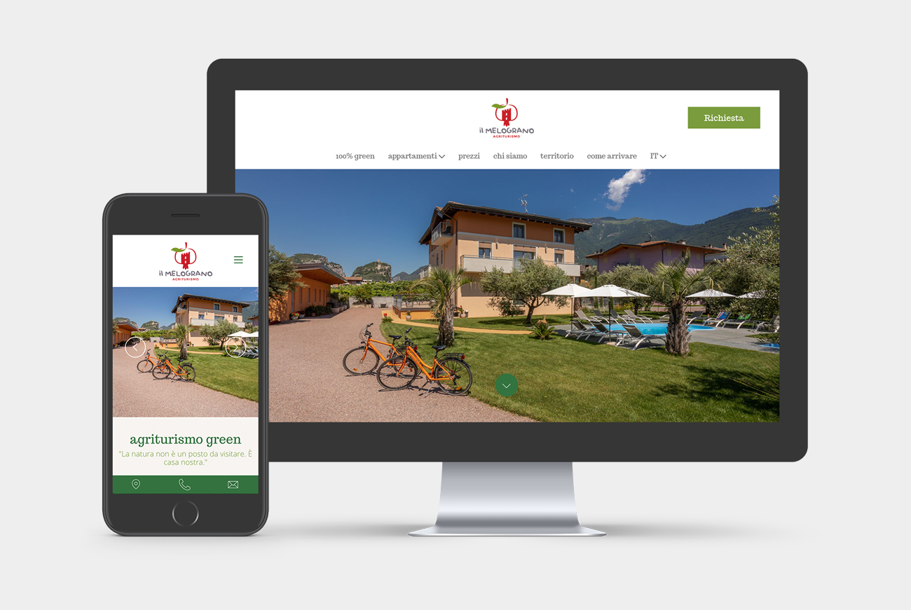 Realizzazione sito web per Agriturismo Il Melograno Arco