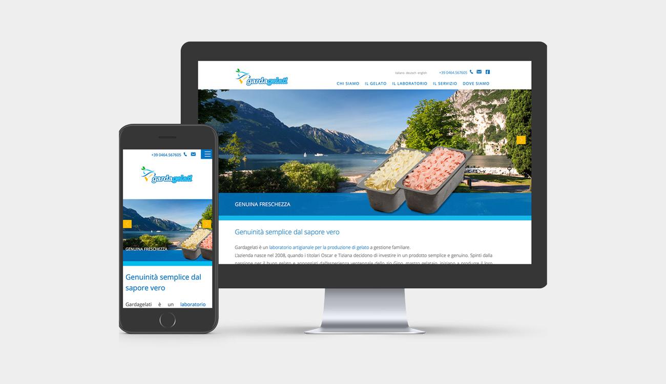 sito internet Gardagelati laboratorio e gelaterie artigianali