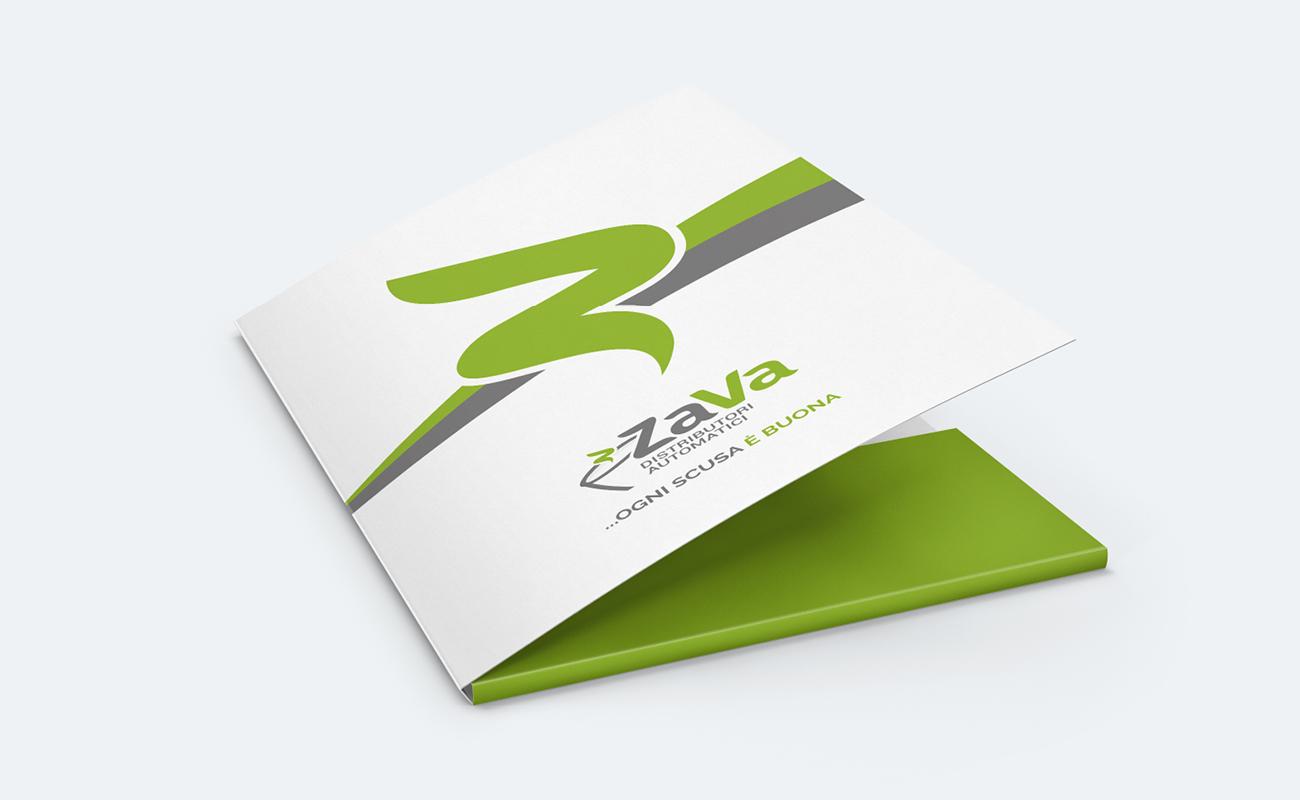 ZAVA Brand Identity - realizzazione Cartelletta porta documenti
