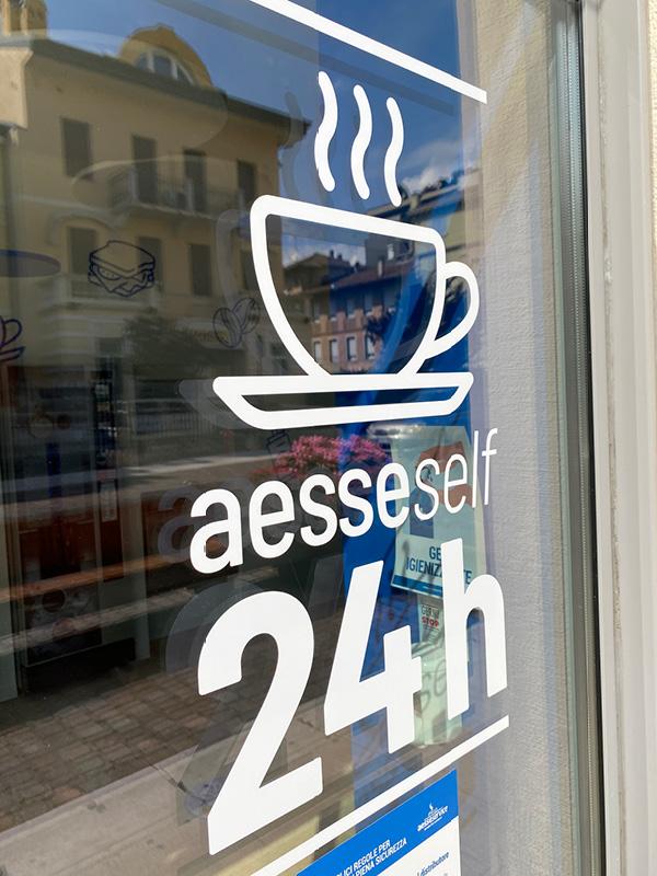 Logo design per bar automatici Aesse Service distributori automatici Trento
